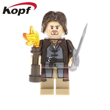 Single Sale Lord of the Ring Aragon Gray Gandalf Bonf Rydgarst Figures Building Blocks Gift Toys Model For Children PG551
