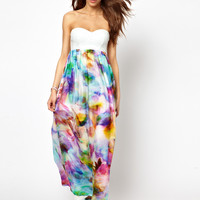 Lashes Of London Maxi Dress with PU Bandeau