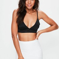 Missguided - Black Harness Strap Detail Bralet