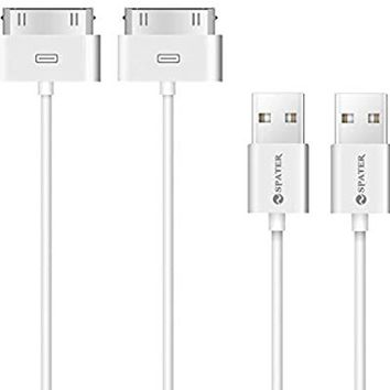 iPhone 4s Cable, 30-Pin USB Sync and Charging Data Cable for iPhone 4/4S/3G/3GS, iPad 1/2/3, and iPod (5'/1.5 Meter) - Pack of 2