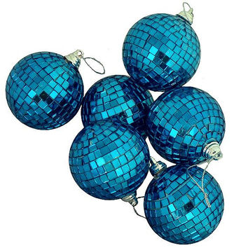 6 Christmas Ornaments - Blue
