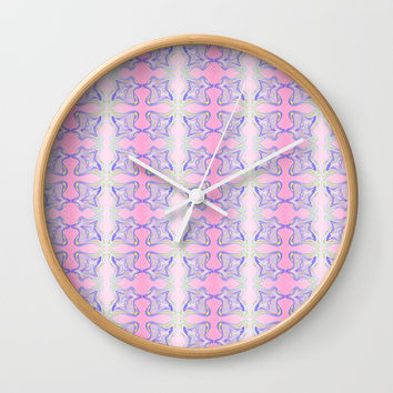 ribbon 18-ornamental,fabrics,fashion,decorative,girly,gentle Wall Clock by oldking