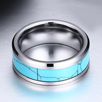 Faux Turquoise Tungsten Carbide Ring