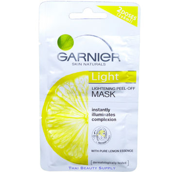 Garnier Light Pure Lemon Essence Lightening Peel Off Mask Skin Whitening