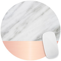 Pale Pink on Marble Mouse Pad Decal