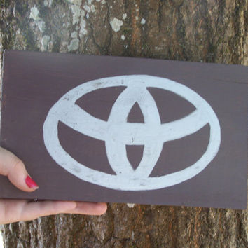 Car logo sign Toyota, 4x4, Chevy, Jeep, Ford, logo Hand Painted Wood Signs plaque