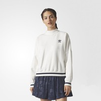 Women Adidas White Thickened Sweater