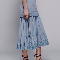 Free People Sail Away Midi Skirt