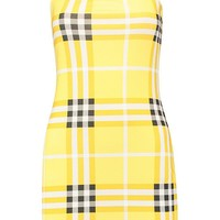 Check Square Neck Mini Dress | Boohoo