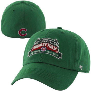 47 Brand Chicago Cubs Wrigley Field 100 Years Marquee Fitted Hat - Kelly Green