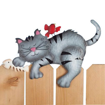 Cat Fence Sitter