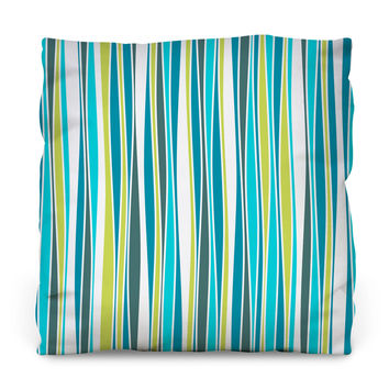 Cool Waves Throw Pillow