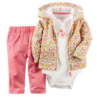 3pcs/set Stripe Casual Newborn Baby Girl Clothes Bodysuit Pants Cardigan Wear Suit Infant Costume Kit Girl Children Clothing Set