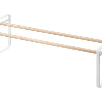 Plain Shoe Rack, White, Shelves & Racks