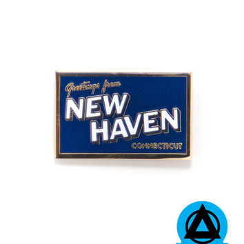 New Haven Postcard Pin