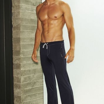 Athletic Low Rise Work Out Pants - Navy