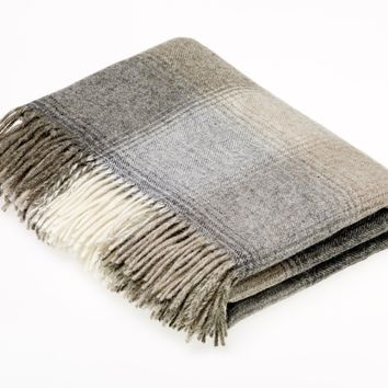 Naturally Bronte Shetland Quality Pure New Wool Natural Kilnsey Throw Blanket