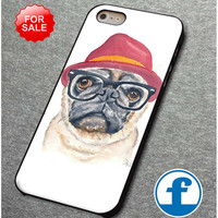 Cute Turquoise Pug Animal Illstration  for iphone, ipod, samsung galaxy, HTC and Nexus PHONE CASE