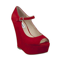 Steve Madden - WHERETO RED SUEDE