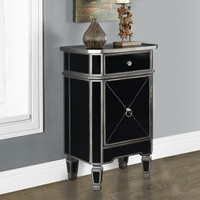"""Brushed Charcoal Grey/Black Mirrored 29""""H Accent Table"""