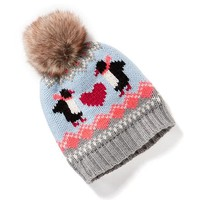 Faux-Fur Pom-Pom Graphic Beanie for Toddler | Old Navy