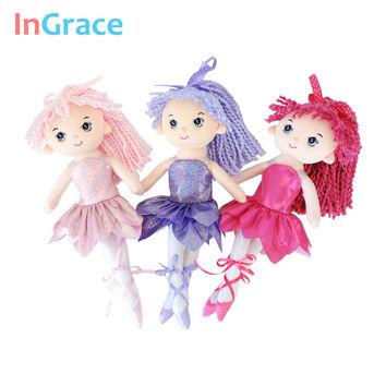 InGrace brand new arrival sparking ballerina dolls 3 colors super beautiful little ballerina doll lifelike princess girl dolls