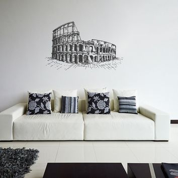 ik1044 Wall Decal Sticker colosseum rome italy gladiator bedroom