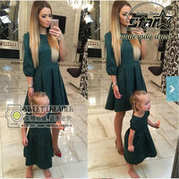 Autumn Mother Daughter Dresses Matching Mother Daughter Clothes Party Elegant Mom and Daughter Dress Family Matching Clothes