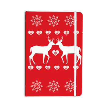 "Suzanne Carter ""Christmas Deer 2"" Holiday Pattern Everything Notebook"