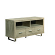 """Natural Reclaimed-Look 48""""L TV Console with 3 Drawers"""