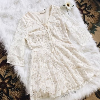 Romantic Lace Up Dress