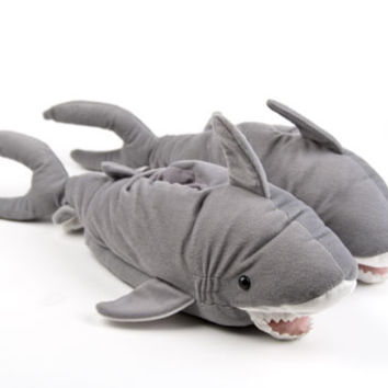 Great White Shark Slippers | Animal & Fish Slippers | BunnySlippers.com