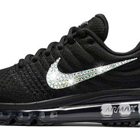 Nike Air Max 2017 + Swarovski Crystal Swoosh - Black