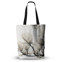 "Iris Lehnhardt ""Magnolia Blossoms"" White Floral Everything Tote Bag"