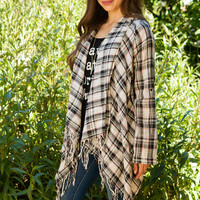 Young Blood Plaid Cardigan