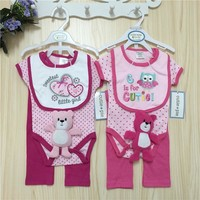 Baby Clothing Sets Bodysuits Short Sleeve Cotton