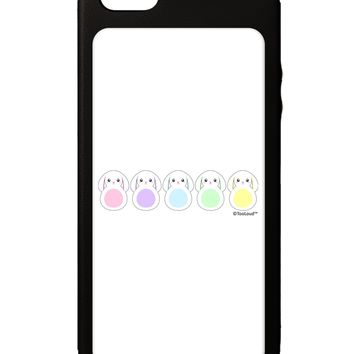 Cute Pastel Bunnies iPhone 5C Grip Case  by TooLoud