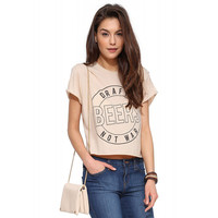 Casual Letter Printed Loose Shirt