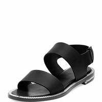 Givenchy Chain-Wrapped Two-Band Sandal, Black