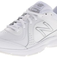 New Balance Women's WW411 Health Walking Shoe,White,5 B US