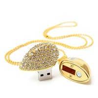 ZTY66 U Disk USB 2.0 | Flash Memory Stick Storage | Capacity: 8, 16, 32, 64GB | Shape of Crystal Necklace Heart