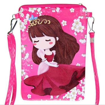 Cartoon  double zipper Children Bags new fashion handbags kids Messenger bag Shoulder Bag