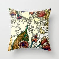 FLOWERS ART Throw Pillow by Maioriz Home