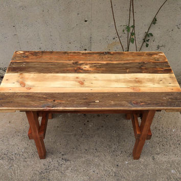 Rustic Furniture. Dining Table. Rustic. Minimal. Custom Made. Pine With Teak Stain Handcrafted In Melbourne By BryceandCo