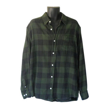 Green Flannel Shirt Men Flannel Shirt 90s Grunge Flannel Shirt Plaid Flannel Shirt Lumberjack Flannel Men Cotton Shirt Men Button Up Shirt