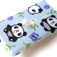 BABY PANDA BEARS Switchplate Light Switch Plate Outlet by smijims