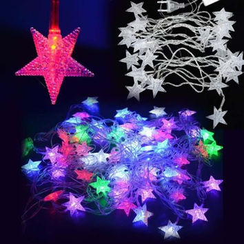 5M 28LED Pentagram String Fairy Cool Light Christmas Wedding Party Decoration Xmas led holiday lighting fairy lights fixtures