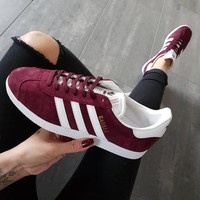 Adidas Gazelle Fashion Burgundy Casual Sport Shoes Sneakers One-nice™