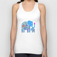 ELEPHANT LOVE Unisex Tank Top by Macsnapshot