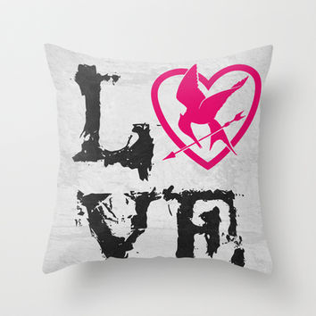 The Hunger Games Poster 07 Throw Pillow by Misery